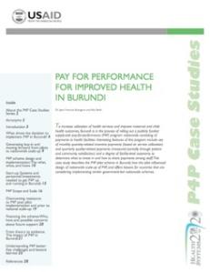 P4P in Burundi